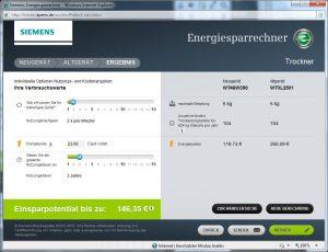 Siemens - Energiesparrechner