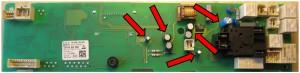 Siemens Trockner Leistungselektronik Rückseite Kondensatoren
