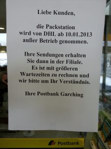 DHL Packstation Information