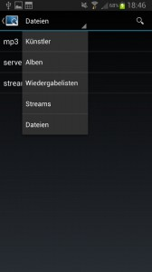 Music Player Daemon - MPDroid Smartphone App Anzeige