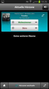 Teufel Raumfeld Speaker M - Aktuelle Hoerzone Musiktitelanzeige