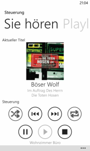 Windows Phone 8 - RaumController App Sie hoeren