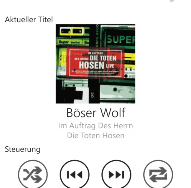 Windows Phone 8 – RaumController App für Raumfeld Speaker