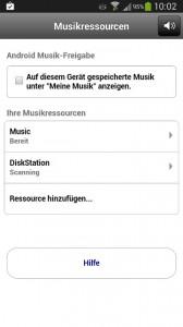 Teufel Raumfeld - Synology Musikressource hinzufügen