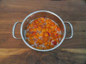 Aprikosen Marmelade - Gelier Zucker 12 Stunden