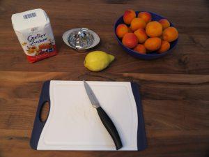 Aprikosen Marmelade - Zutaten