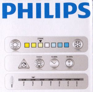 Philips LED - Kerze Kelvin 2700