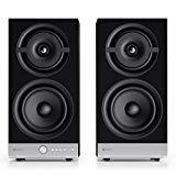 Raumfeld Stereo M WLAN-Regallautsprecher-Paar schwarz (Streaming, Wireless, WLAN, verlustfrei, Spotify, App)