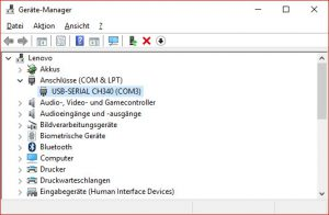 CH340 device manager