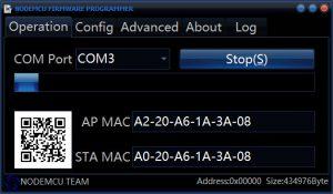 NodeMCU Firmeware Programmer flashing