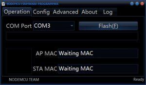 NodeMCU Firmeware Programmer waiting