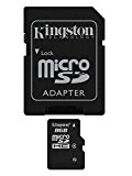 Kingston SDC4 Micro SDHC 8GB Class 4 Speicherkarte (inkl. microSD zu SD Adapter)