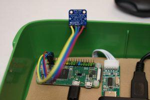 Feinstaub Sensor SDS011 - BME280 Sensor macro Aufnahme