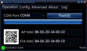 NodeMCU Firmware Programmer - Operation