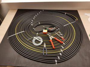 Sonnenkollektor Sonnenspirale erster Aufbau