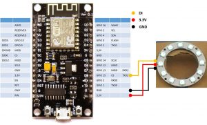 DIY CO2 Ampel Neo Pixel ring Verkabelung