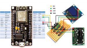 DIY CO2 Ampel Sensirion SDC30 ESP8266 NodeMCU OLED Display Verkabelung