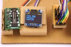 DIY CO2 Ampel Sensirion SDC30 ESP8266 NodeMCU OLED Display Verkabelung ready