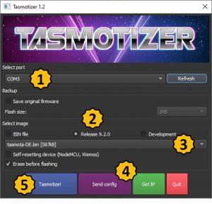 Tasmotizer Kllick Guide